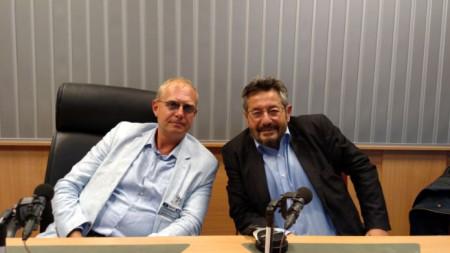 Д-р Борис Грозданов и проф. Георги Каприев (вдясно)