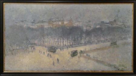 """Никола Петров, """"София зиме"""", 1907"""