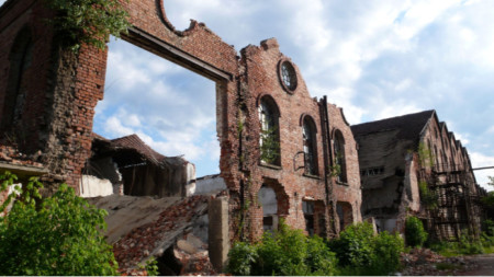 The remains of the Sugar Factory in Sofia