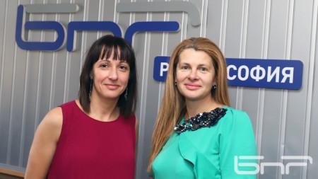 Надя Синигерска (вляво) и Илияна Захариева