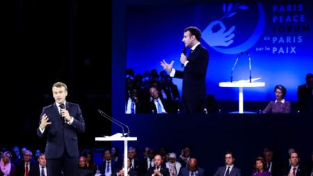 Изказване на Еманюел Маркон на Парижкия мирен форум
