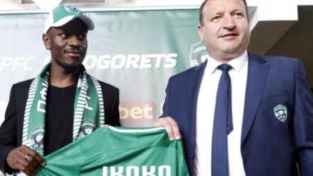 Джордан Икоко бе представен като футболист на Лудогорец от директора