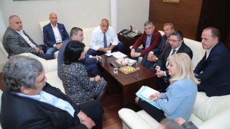 Срещата на превозвачи и представители на транспортни фирми с премиера Бойко Борисов