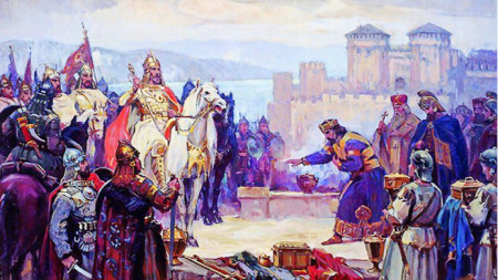 King Simeon the Great at Constantinople, paited 1927