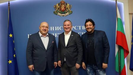 Красен Кралев, Горан Джокович и Стефан Цветков.