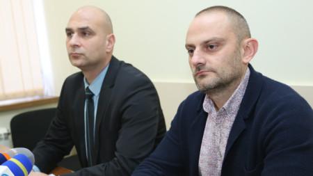 Димитър Франтишек Петров, ръководител на Специализирана прокуратура и старши комисар Любомир Янев, заместник-директор на ГДБОП