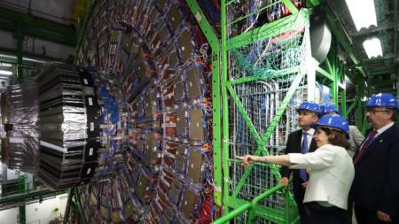 Президентът Румен Радев на посещение в ЦЕРН