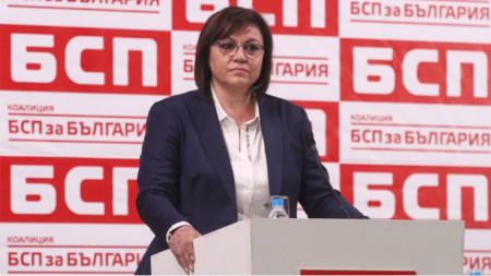 Корнелия Нинова е категорична, че в БСП няма разцепление, а оставката ѝ не е била искана
