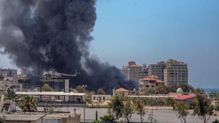 Последици от израелски удар в град Газа, 13 май 2021 г.