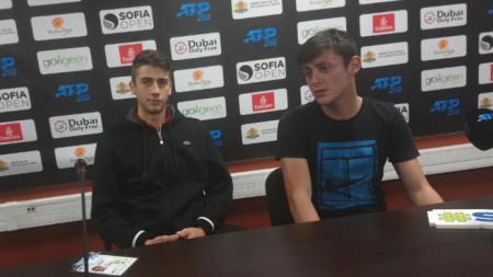 Александър Донски (вляво) и Александър Лазаров.