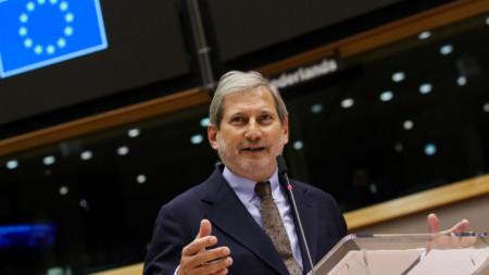 Йоханес Хан пред европейския парламент - 11 ноември 2020 г.