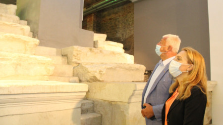Minister Mariana Nikolova during her visit to Plovdiv