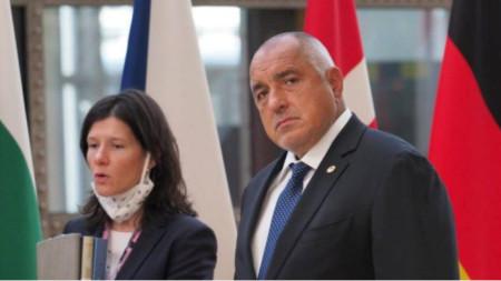 Prime Minister Borissov with Denitsa Zheleva, chief of Borissov's staff