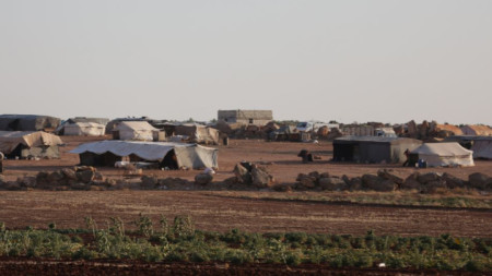 Бежански лагер в северозападната сирийска провинция Идлиб.