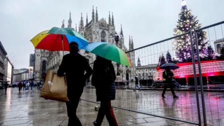 Италианският град Милано в очакване на Коледа