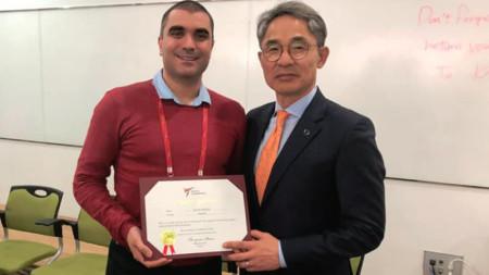 Димитър Михайлов с отлични оценки от сертификационния  курс за преподаватели по таекуондо