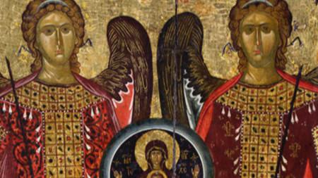 Archangel Gathering, 14c. Bachkovo Monastery (fragment)