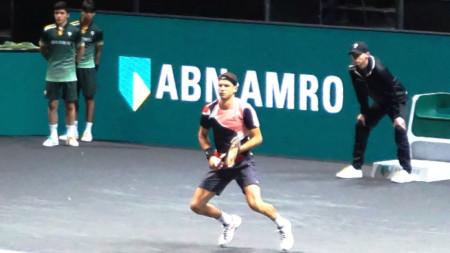 Григор Димитров игра за последно на финал в Ротердам през 2018-а.