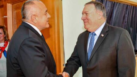 Българският министър-председател Бойко Борисов се срещна с държавния секретар на САЩ Марк Помпейо в Ню Йорк.