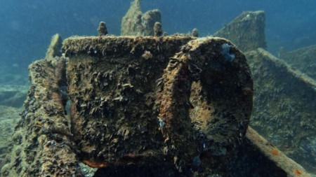 Част от потънал кораб край Шабла
