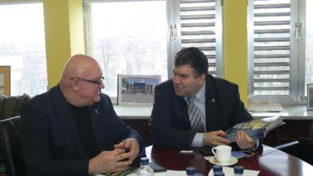среща на кмета на община Видин цветан Ценков и проф Андрей Захариев