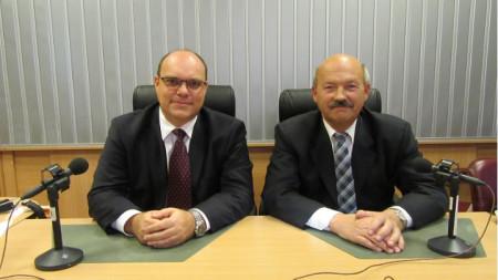 Н. Пр. г-н Мануел Корчек - вляво, Н. Пр. г-н Душан Щраух - вдясно