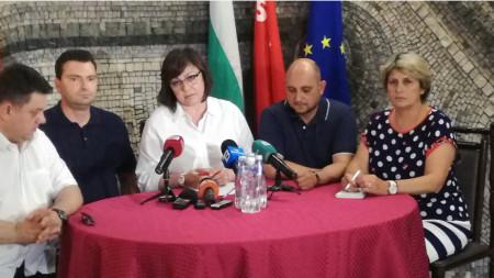 Пресконференция след изнесено заседание на Изпълнителното бюро на БСП в Кюстендил