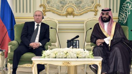 Руският президент Владимир Путин и саудитският престолонаследник Мохамед бин Салман