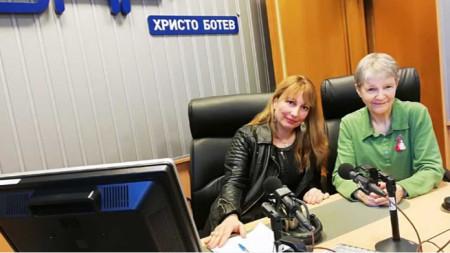 Мария Мира Христова (вляво) и проф. Искра Баева
