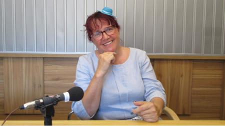 Ирина Сардарева в студиото на предаването