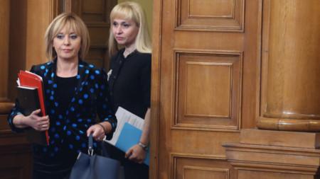 Омбудсманът Мая Манолова и заместничката ѝ Диана Ковачева