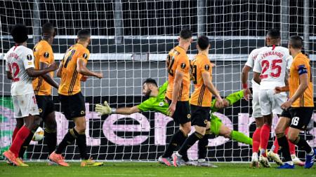 Окампос е вкарала току-що победния гол за Севиля.