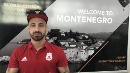 Бодуров на летището в Подгорица.