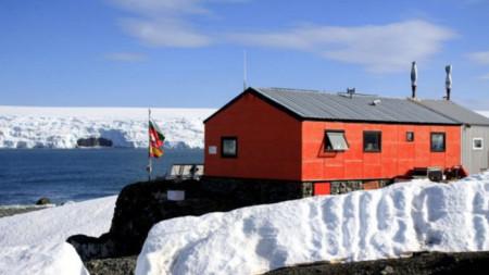 """Die bulgarische Polarstation """"Heiliger Kliment von Ochrid"""" auf der Insel Livingston"""