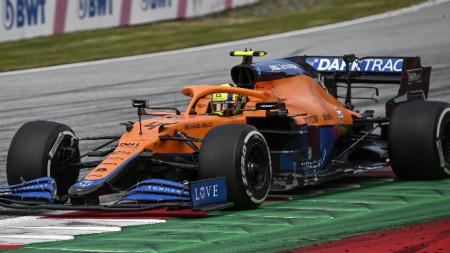 Пилотът на Макларън Ландо Норис финишира трети за голямата награда на Австрия във Формула 1