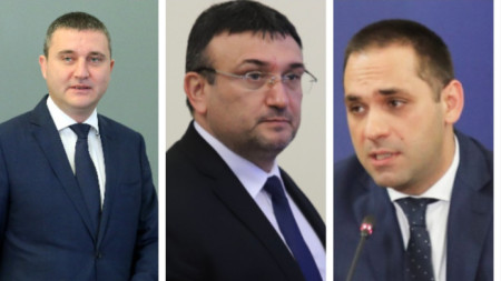 Министры Владислав Горанов, Младен Маринов и Емил Караниколов