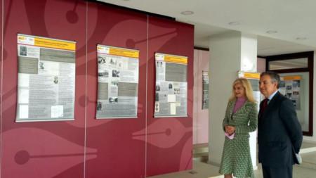 Zaritza Dinkova, viceministra de Asuntos Exteriores de Bulgaria, y Alejandro Polanco, embajador de España en Bulgaria