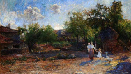 Луиджи Болонгаро (1877–1915), Пейзаж от Кестерич (1897)