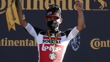 Австралиецът Кейлъб Юън спечели третия етап от колоездачната Обиколка на Франция