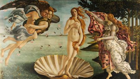 """""""Раждането на Венера"""" (1485), Сандро Ботичели"""