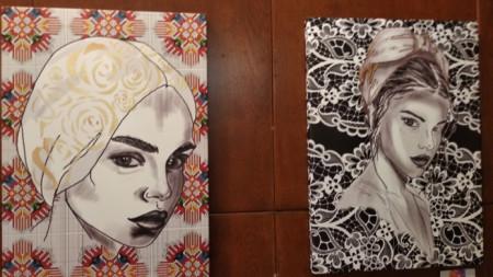 """Картините на Стела Стоева """"Момичето с розата"""" и 'Дантела"""""""