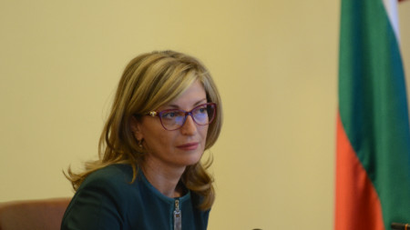 Bulgaria's Minister of Foreign Affairs Ekaterina Zaharieva