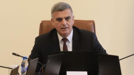 Служебният премиер Стефан Янев на днешното заседание на Министерски съвет