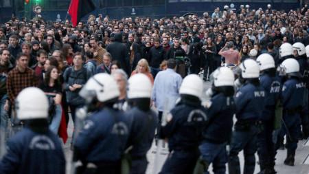 Студенстките шествия в Гърция на 17-и ноември са винаги мащабни