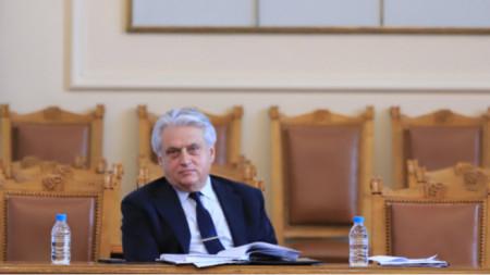Boyko Rashkov in parliament