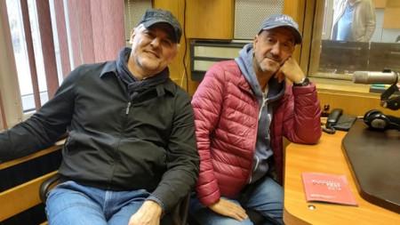 Влатко Стефановски и Теодосий Спасов в Радио Пловдив