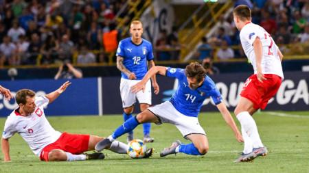 Отборът на Полша надигра с 1:0 един от фаворитите за титлата Италия