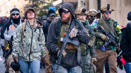 Привърженици на правото на носене на оръжие в Ричмънд, Вирджиния, 20 януари 2020 г.
