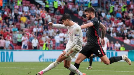 Испания  победи Хърватия с 5:3 след продължения