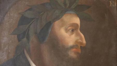 Портрет на Данте Алигиери от неизвестен художник (1500-1600 г.) в кабинета на кмета на община Орвието (Терни), Италия